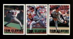 1993 FLEER TOM GLAVINE CAREER HIGHLIGHTS COMPLETE 15 CARD SET
