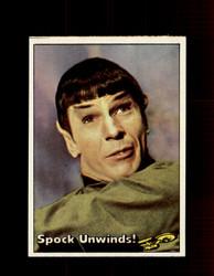 1976 STAR TREK TOPPS #37 SPOCK UNWINDS! *1473