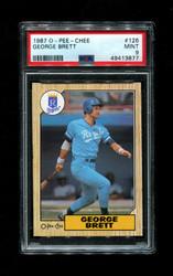 1987 GEORGE BRETT OPC #126 O-PEE-CHEE ROYALS PSA 9