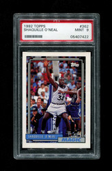1992 SHAQUILLE O'NEAL TOPPS #362 ROOKIE MAGIC PSA 9