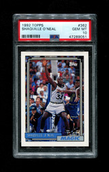 1992 SHAQUILLE O'NEAL TOPPS #362 ROOKIE MAGIC PSA 10