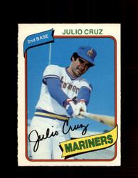 1980 JULIO CRUZ OPC #16 O-PEE-CHEE MARINERS *G4765