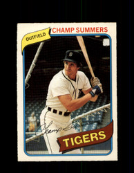 1980 CHAMP SUMMERS OPC #100 O-PEE-CHEE TIGERS *G4808