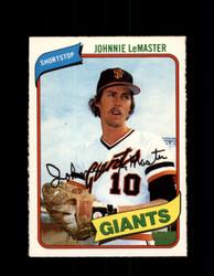 1980 JOHNNIE LEMASTER OPC #224 O-PEE-CHEE GIANTS *G4882