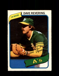 1980 DAVE REVERING OPC #227 O-PEE-CHEE ATHLETICS *G4885