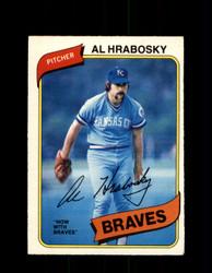 1980 AL HRABOSKY OPC #306 O-PEE-CHEE BRAVES *G4922