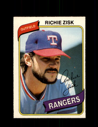 1980 RICHIE ZISK OPC #325 O-PEE-CHEE RANGERS *G4935