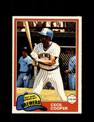 1981 CECIL COOPER OPC #356 O-PEE-CHEE BREWERS *7951