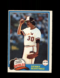 1981 DENNY MARTINEZ OPC #367 O-PEE-CHEE ORIOLES *G4962