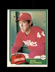 1981 DICK RUTHVEN OPC #285 O-PEE-CHEE PHILLIES *G4966