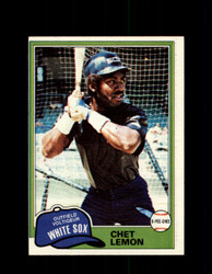 1981 CHET LEMON OPC #242 O-PEE-CHEE WHITE SOX *G4969