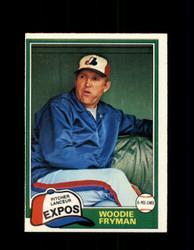 1981 WOODIE FRYMAN OPC #170 O-PEE-CHEE EXPOS *G4971