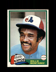 1981 WILLIE MONTANEZ OPC #63 O-PEE-CHEE EXPOS *G4983