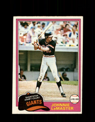 1981 JOHNNIE LEMASTER OPC #84 O-PEE-CHEE GIANTS *G4988