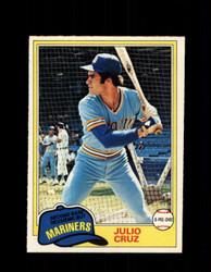 1981 JULIO CRUZ OPC #121 O-PEE-CHEE MARINERS *G4996