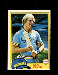 1981 DAN MEYER OPC #143 O-PEE-CHEE MARINERS *G5002