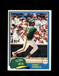 1981 TONY ARMAS OPC #151 O-PEE-CHEE ATHLETICS *G5003