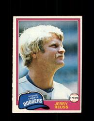 1981 JERRY REUSS OPC #153 O-PEE-CHEE DODGERS *G5004
