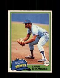 1981 CHRIS CHAMBLISS OPC #155 O-PEE-CHEE BRAVES *G5005