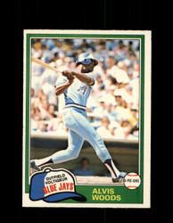1981 ALVIS WOODS OPC #165 O-PEE-CHEE BLUE JAYS *G5008