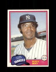 1981 RUDY MAY OPC #179 O-PEE-CHEE YANKEES *G5012