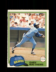 1981 GARY MATTEWS OPC #186 O-PEE-CHEE BRAVES *G5014