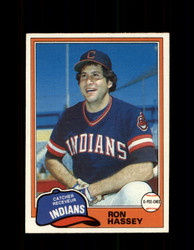 1981 RON HASSEY OPC #187 O-PEE-CHEE INDIANS *G5015