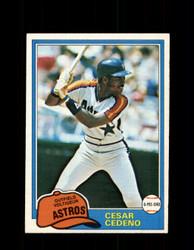 1981 CESAR CEDENO OPC #190 O-PEE-CHEE ASTROS *G5017