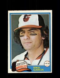 1981 KIKO GARCIA OPC #192 O-PEE-CHEE ORIOLES *G5019