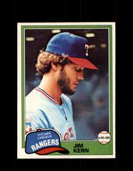 1981 JIM KERN OPC #197 O-PEE-CHEE RANGERS *G5021