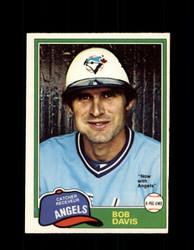 1981 BOB DAVIS OPC #221 O-PEE-CHEE ANGELS *G5030