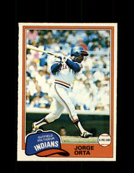 1981 JORGE ORTA OPC #222 O-PEE-CHEE INDIANS *G5031