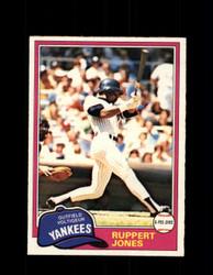 1981 RUPPERT JONES OPC #225 O-PEE-CHEE YANKEES *G5033