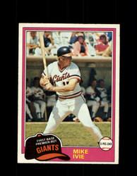 1981 MIKE IVIE OPC #236 O-PEE-CHEE GIANTS *G5035