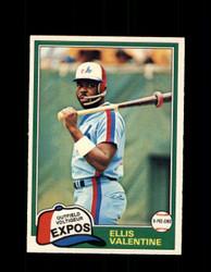 1981 ELLIS VALENTINE OPC #244 O-PEE-CHEE EXPOS *G5036