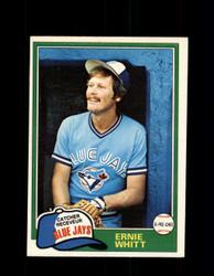 1981 ERNIE WHITT OPC #282 O-PEE-CHEE BLUE JAYS *G5054
