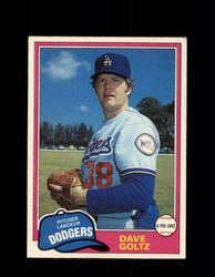 1981 DAVE GOLTZ OPC #289 O-PEE-CHEE DODGERS *G5056