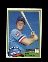 1981 PAT PUTNAM OPC #302 O-PEE-CHEE RANGERS *G5064