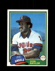 1981 DON BAYLOR OPC #309 O-PEE-CHEE ANGELS *G5068