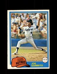 1981 JOE SAMBITO OPC #334 O-PEE-CHEE ASTROS *G5081