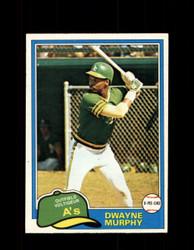 1981 DWAYNE MURPHY OPC #341 O-PEE-CHEE ATHLETICS *G5085