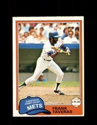1981 FRANK TAVERAS OPC #343 O-PEE-CHEE METS *G5087