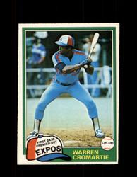 1981 WARREN CROMARTIE OPC #345 O-PEE-CHEE EXPOS *G5088