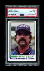 1982 DENNIS LAMP TOPPS #622 WHITE SOX PSA 8