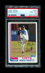 1982 MIKE SCOTT TOPPS #432 METS PSA 8