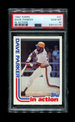 1982 DAVE PARKER TOPPS #41 IN ACTION PSA 10