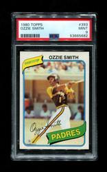 1980 OZZIE SMITH TOPPS #393 PADRES PSA 9