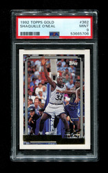 1992 SHAQUILLE O'NEAL TOPPS GOLD #362 ROOKIE MAGIC PSA 9