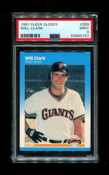 1987 WILL CLARK FLEER GLOSSY #269 ROOKIE GIANTS PSA 9