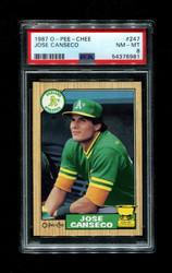 1987 JOSE CANSECO OPC #247 O-PEE-CHEE ATHLETICS PSA 8
